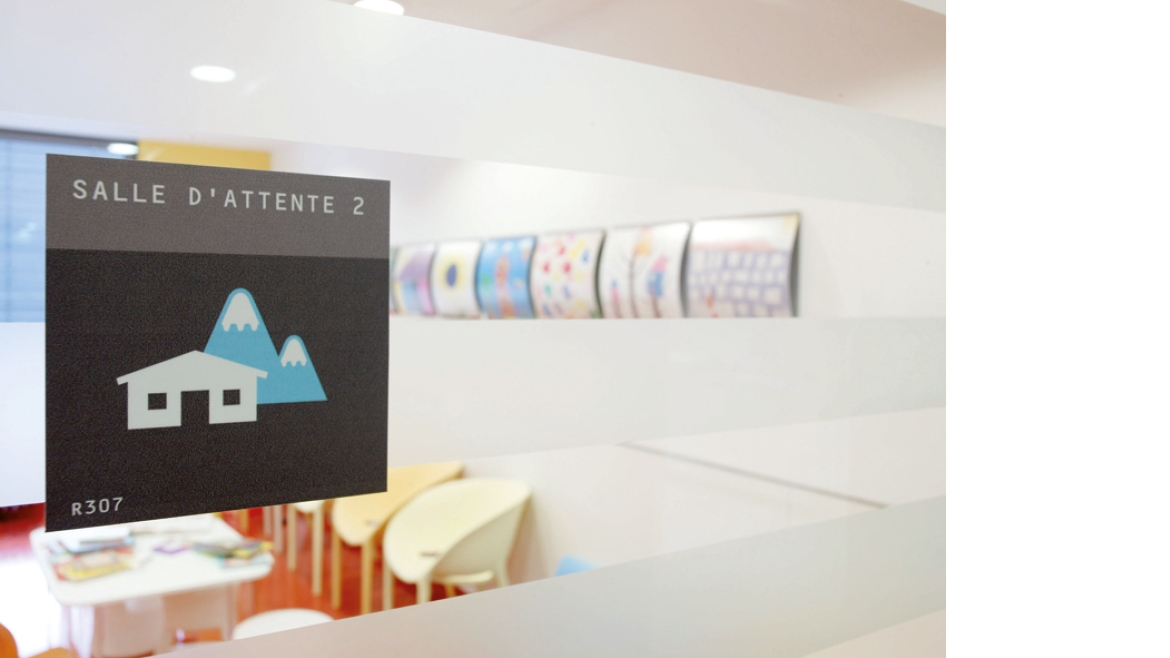 SIGNALETIQUE INTERIEURE, LOGO, PIXIE BOOK, AMENAGEMENT INTERIEUR